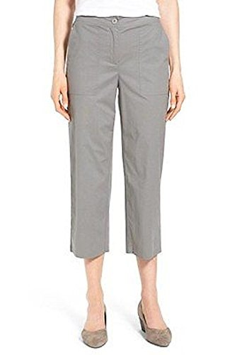 - Eileen Fisher Stretch Organic Cotton Poplin Cropped Pants Pewter Size PM MSRP$178