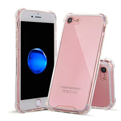 Creazy Transparent Soft Gel TPU Silicone Case Cover for iphone 8 4.7inch