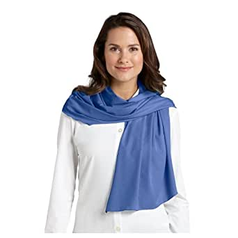 Coolibar UPF 50+ Women's Aire Scarf - Sun Protection (One Size - Sapphire)
