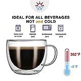CnGlass Cappuccino Glass Mugs 8.1oz,Clear Coffee