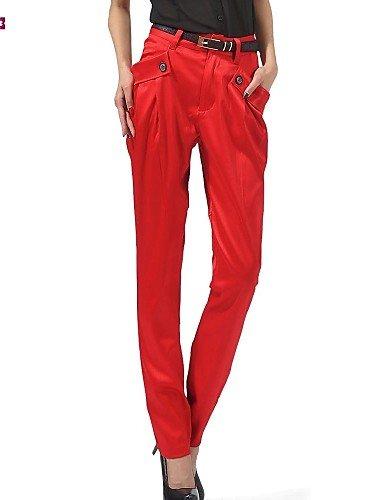 TT&KUZI Women's Casual Inelastic Medium Harem Pants (Polyester), m