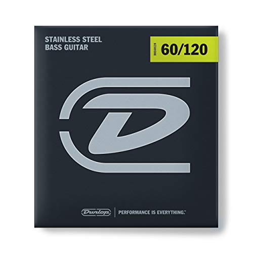 Dunlop DBS60120 Stainless Steel Bass Strings, Extra Heavy, .060-.120, 4 Strings/Set