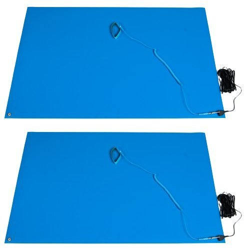 "Bertech ESD Mat Kits Bundle - 2' Wide x 3' Long x 0.093"" ..."