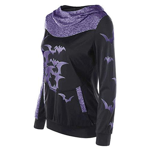 Capuche Capuche Violet Chauves Manches Longues Souris Imprimer Sweat Femmes Lolittas Halloween BqwTzx4CC