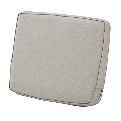 Classic Accessories Montlake Back Cushion Foam & Slip Cover, Heather Grey, 21x20x4″ Thick
