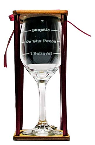 (Bigfoot Sasquatch Drink 'Till You Believe Stemmed Wine Glass with Charm and Presentation Packaging)
