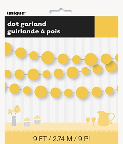 9ft Paper Yellow Circle Garland