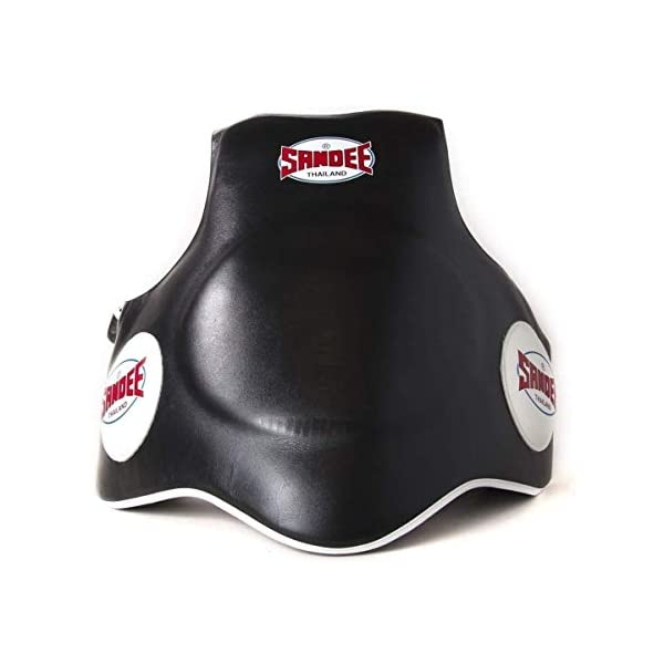 Sandee-Leather-Black-White-Full-Body-Pad-Muay-Thai-Boxing-Training-Protection