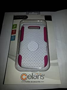 Cellairis Air Rapture Snap-On Case for BlackBerry Torch 9800 White/Pink