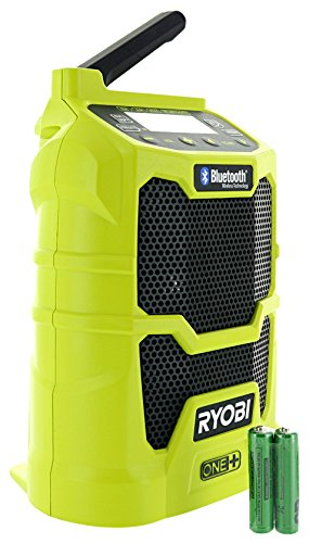 Ryobi P742 One+ 18V Lithium Ion Cordless Compact AM / FM Radio w/ Wireless Bluetooth Technology and Phone Charging (18V Battery Not Included / Radio Only) by Ryobi