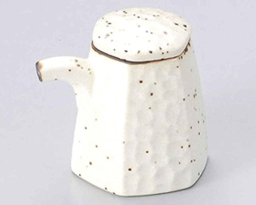 Mikage Hexagon 2.6inch Set of 5 Soy Sauce Dispensers White porcelain Made in Japan by Watou.asia