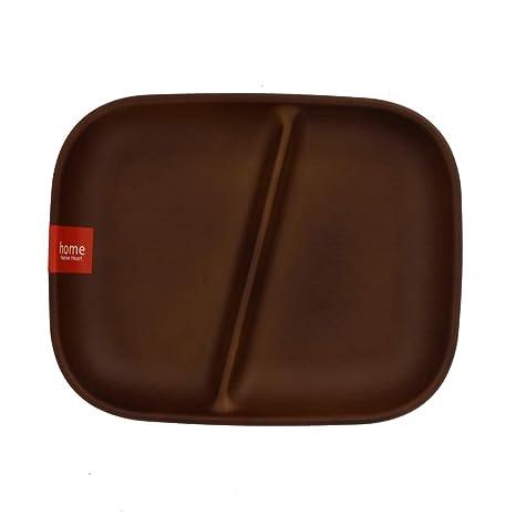 Table Ware medio placa de almuerzo ángulo tipo dos partición ...