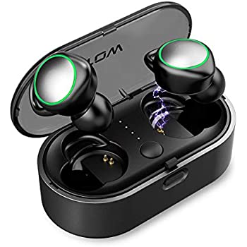 Wireless Earbuds, LATOW Bluetooth 5.0 Earbuds Mini Wireless Headphones 16H Playtime with Microphone Stereo in-Ear Earphones with Charging Case Compatible ...