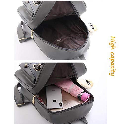 Bookbag Couleur D'école Dos Sac Femmes Black Filles Unie Simple Voyage à Mignonnes Sac wItwxdFB