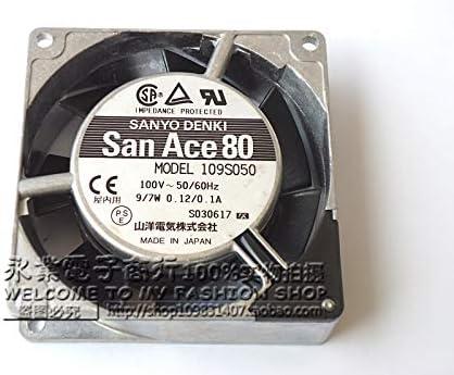 Original Sanyo 109S050 100V 9 7W 0.12//0.1A 80 80 25MM AC fan