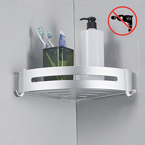 Cheap  BESy Shower Corner Caddy Bathroom Shower Corner Shelf, Self Adhesive with Glue..