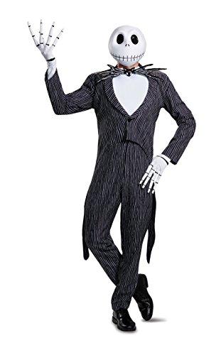 Jack Costumes (Disney Men's Jack Skellington Prestige Adult Costume, Multi, X-Large)