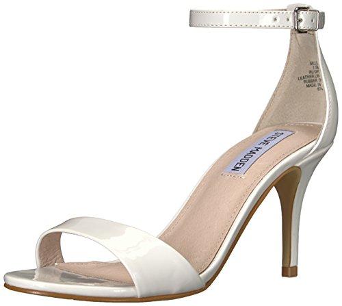 Steve Madden Women's Sillly Heeled Sandal, White Patent, 8.5 M US
