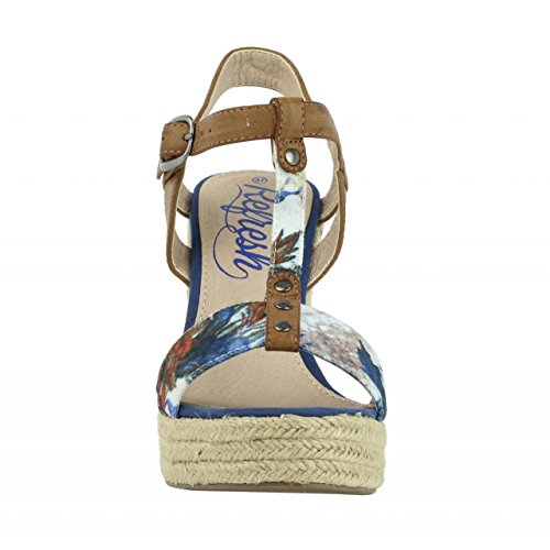 Zapatos de cuña de Mujer REFRESH 61853 TEX AZUL