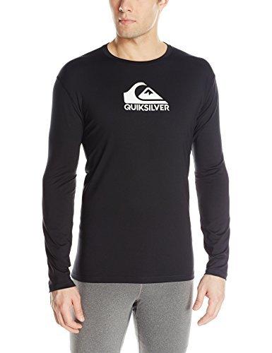 id Streak Long Sleeve Surf Tee Rashguard, Black2, Large ()