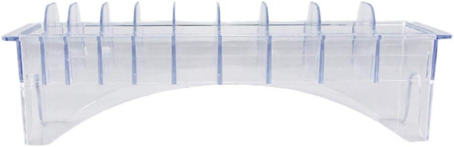 Beaupretty Guide Comb Storage Box Hair Clipper Storage Box Hair Tools Supplies Organizer (Place 10pcs Limit Comb)