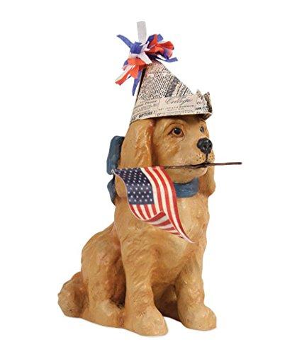 Bethany Lowe American Patriotic Puppy Figurine