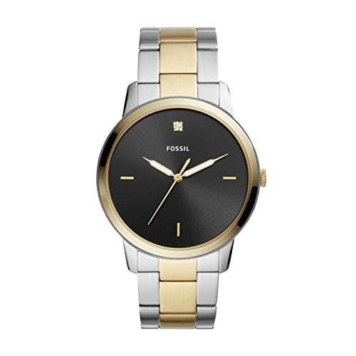 Fossil The Minimalist Carbon Series Three-Hand Two-Tone Stainless Steel Watch FS5458