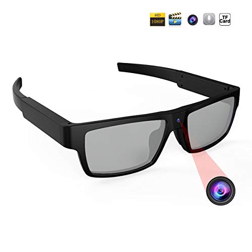 HoHoProv Spy Camera Polarized Sunglasses HD 1080P Hidden Camera Sports Security Camera Built-in 16GB Card ()