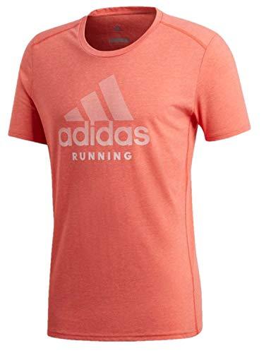 Logo Graphic Tee - adidas Men's BOS Logo Running Response Soft Graphic Tee (Medium, HI-RES RED/Heather)