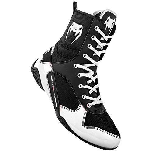 Venum Elite Boxing Shoes - Black/White - Size 11 (45)
