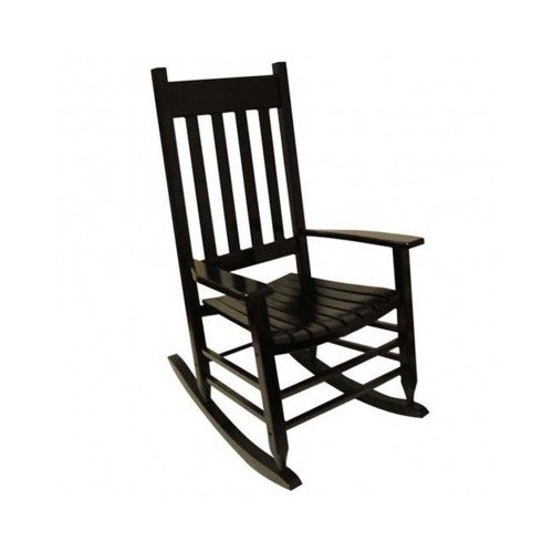 Garden Treasures Pinewood Outdoor Rocking Chair, Black (Black Outdoor Rocking Chair compare prices)