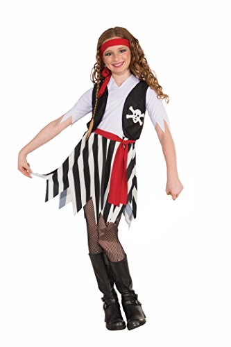 All Costumes For Girls (Forum Novelties Little Lady Buccaneer Costume, Child Medium)