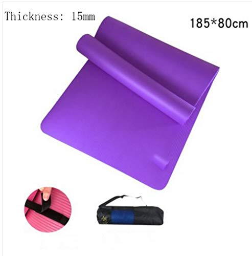 Mdck Yoga Mat,Single Pad Yoga Mats Thickened 15mm Long 185cm Wide 80cm Dance Mats with Breathable Network Package