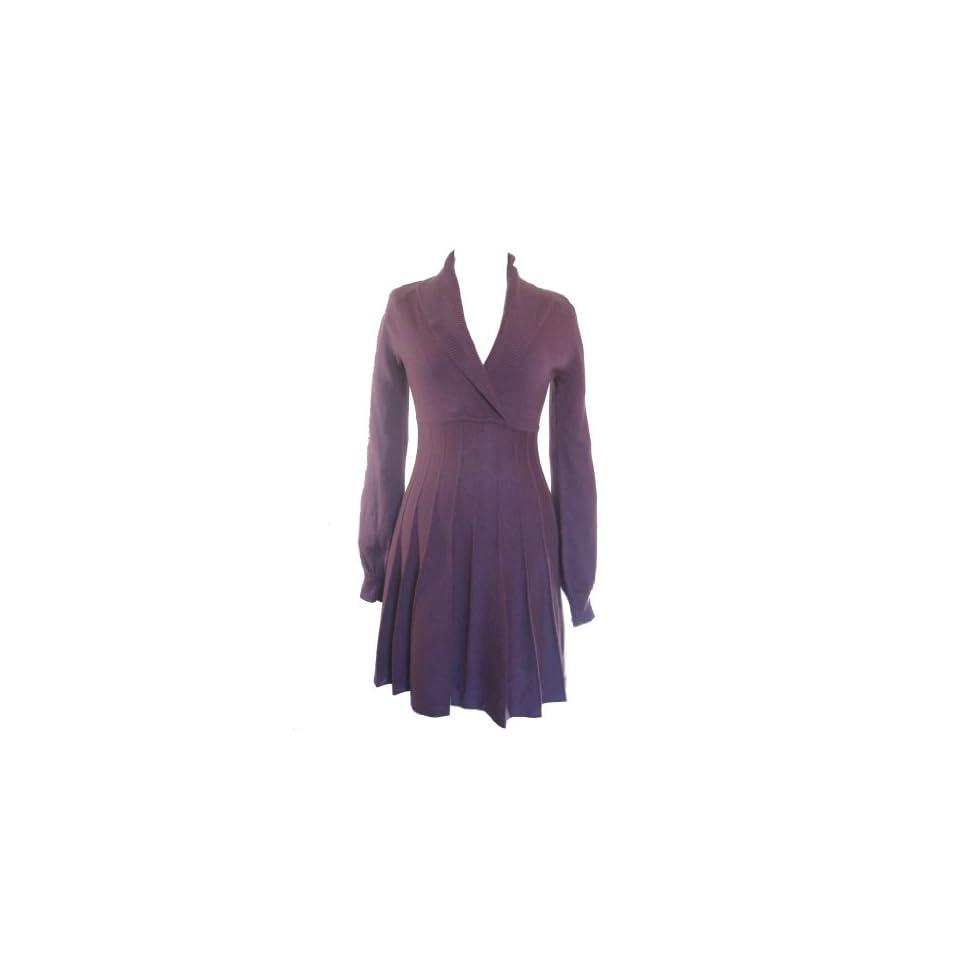 NINE WEST Shawl Collar Sweater Dress PASTEL PURPLE XS