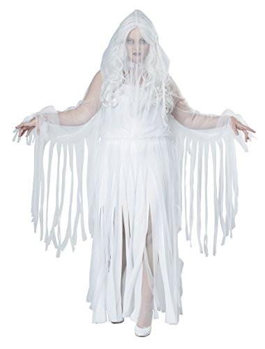 California Costumes Women's Plus Size Ghostly Spirit Costume, White, (Spirit Com Costumes)