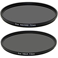 ICE 72mm Set ND2000 & ND64 Filter Neutral Density ND 2000 72 64 & 11 Stop Optical Glass