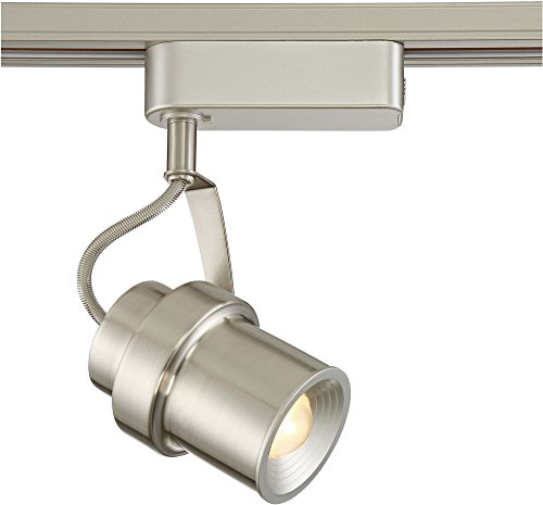 Single Modern Track Head (Silver Cylinder LED Track Head for Halo Single-Circuit)