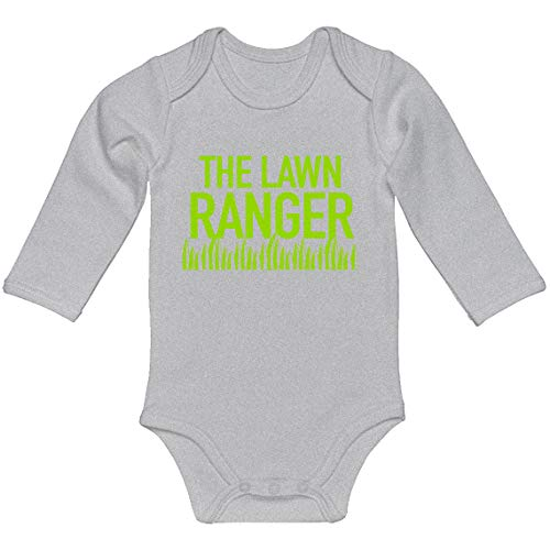 Indica Plateau Baby Romper The Lawn Ranger Heather Grey for Newborn Long-Sleeve Infant Bodysuit]()