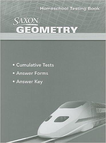 Saxon geometry homeschool testing book saxon 9781600329777 saxon geometry homeschool testing book 1st edition fandeluxe Choice Image