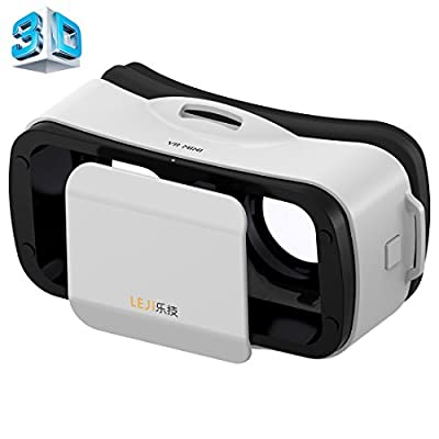 3D VR Headset, LEJI® - Mini Virtual Reality Universal Goggles Helmet Cinema Glasses Adjustable for 4.5 to 5.5 Inch Smartphones for 3D Games and Movies