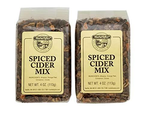 Mulling Spice, Market Spice Spiced Cider Mix For Hot Apple Cider Or Hot Wine, Allspice, Orange Peel, Cinnamon And Cloves, 4 Oz. or 8 Oz. Package (Spiced Cider Mix, 8 Oz.)