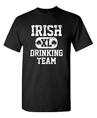 Feelin Good Tees Irish Drinking Team Saint Mens Sarcastic Funny St Patricks Day T Shirt