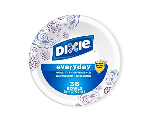 Dixie Everyday Paper Bowls 10 Ounce, 36 Count,