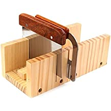 Peicees Adjustable Wooden Soap Mold Handmade Loaf Cutter Mold with 2pcs Wavy & Straight Planer Cutting Tool Set