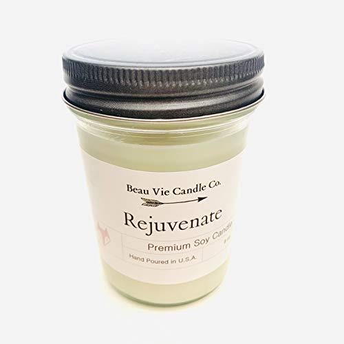 Rejuvenate - Beau Vie Soy Candle, Glass Jar