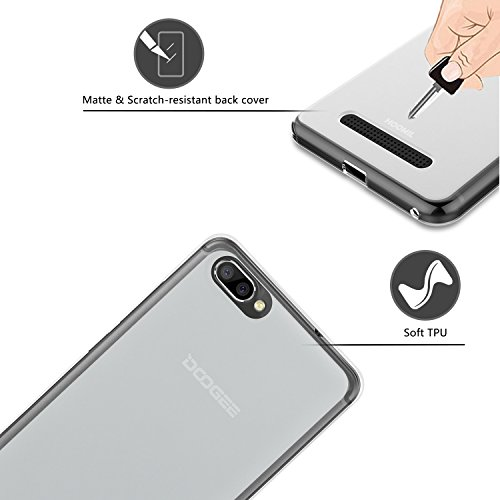 HOOMIL Doogee X20 Case Soft TPU Slim Protective Clear Case