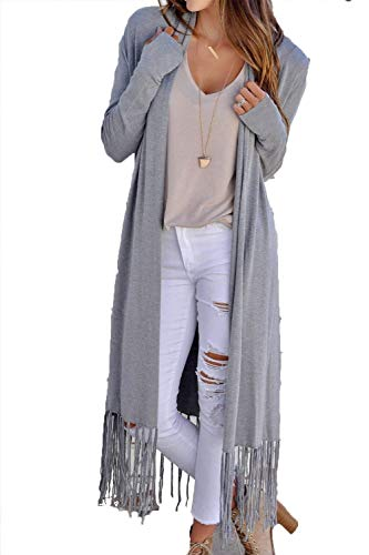 Air Manches Veste Lâche Des Long Automne Manteau Élégant En Chic Pure Avec Cardigan Girl Grau Printemps Plein Casual Mode De Veste Manteau Femme Glands Color zqwHp4U