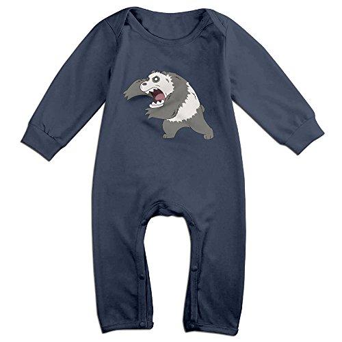 Mmo-J Newborn Babys We Bare Bears Long Sleeve Jumpsuit Outfits Navy Size 24 (Spongebob Squarepants Cast Costumes)