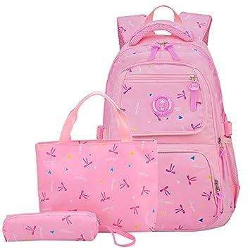 f01877de51f3 JiaYou Girl Boy Cute Lunch Bag Purse/Pencil Bag School Backpack 3 Sets  (24L, 1#Pink)