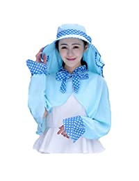 WENDYWU Shawl Hat Summer Outdoor Sunscreen Sun Hhat Neck Cap UV Protection Suit